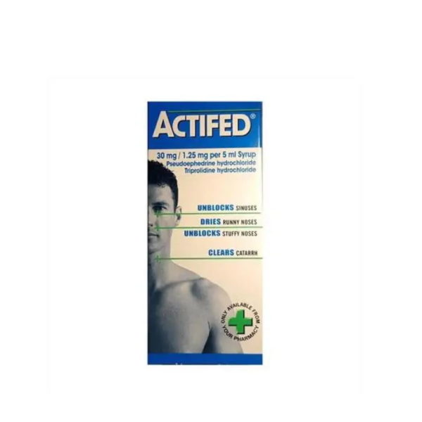 Actifed Syrup for Coughs & Colds